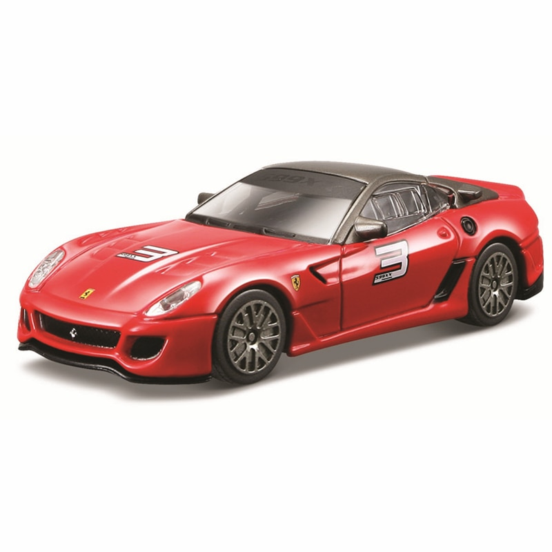 Bburago 1:43 Scale Ferrari 599XX Alloy Luxury Vehicle Diecast Cars Model Toy Collection Gift alloy model gift 1 50 scale scania a90 city wide transit bus vehicle diecast toy model for collection decoration