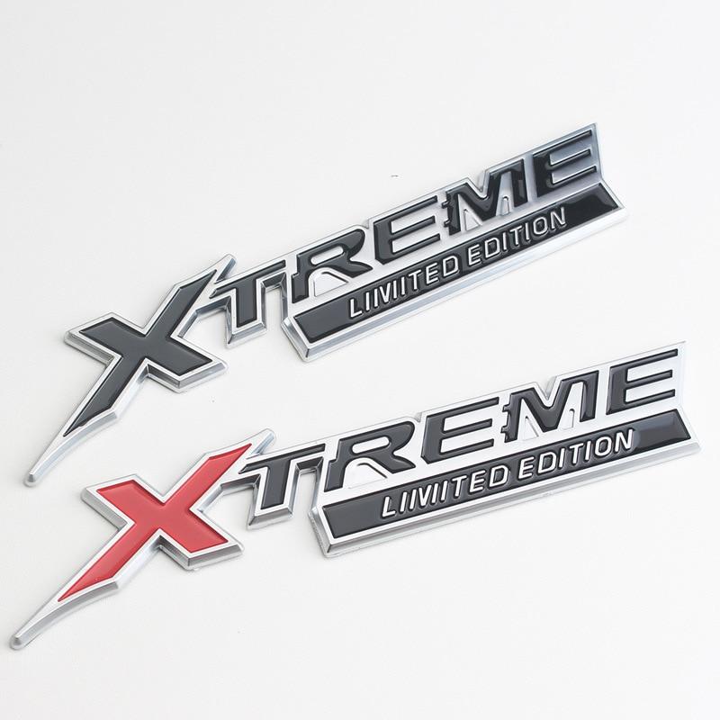 Lado del coche insignia trasera para Toyota X TREME Land Cruiser 100 Prado 150 120 VXL TXL CHR Dubai Camry Rav4 Corolla 3D de Metal