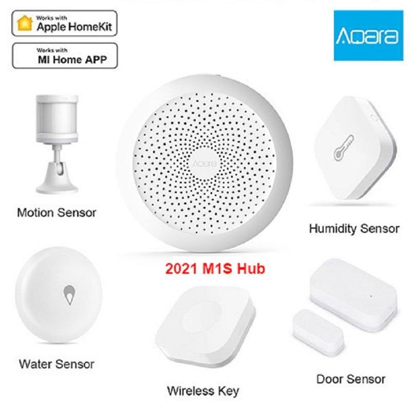 الأصلي Aqara أدوات منزلية ذكية بوابة Hub M1S الجدار التبديل الباب استشعار درجة الحرارة الحركة التتابع Mihome التحكم عن بعد