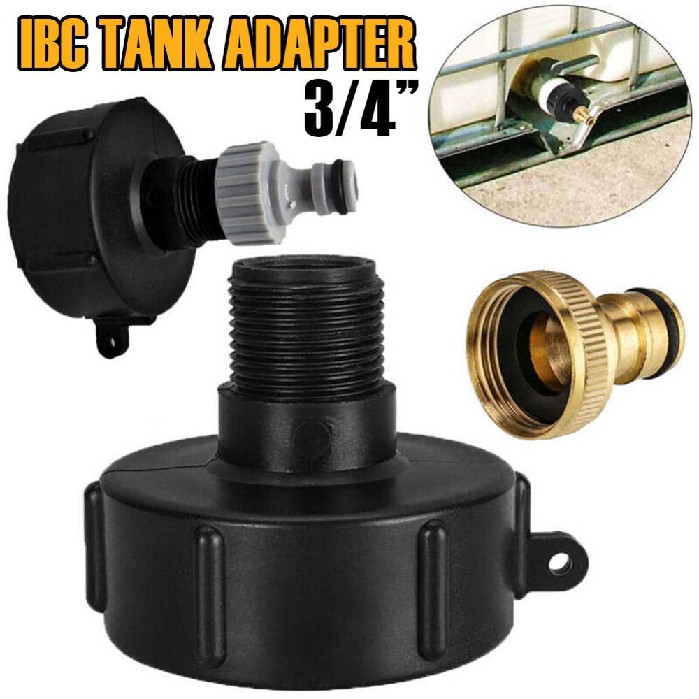 """Rosca grosseira do adaptador s60 * 6 do tanque de ibc a 3/4 """"conector da linha do jardim para dn40/50 válvula de esfera"""