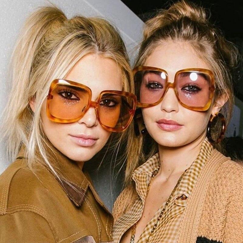 TR90 Metal Needle womens Square Sunglasses Men 2020 Fashion shades Luxury Oversized Sunglasses Female Lady Sexy Leopard Eyewear