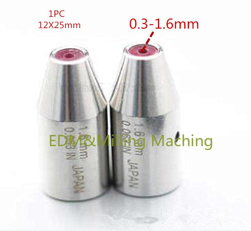 EDM Machine Ruby Ceramic Guide 12X25mm C140D 0.3-1.6mm Guide Tube For Drill Guide For Drilling EDM Machine birdfeeder guide
