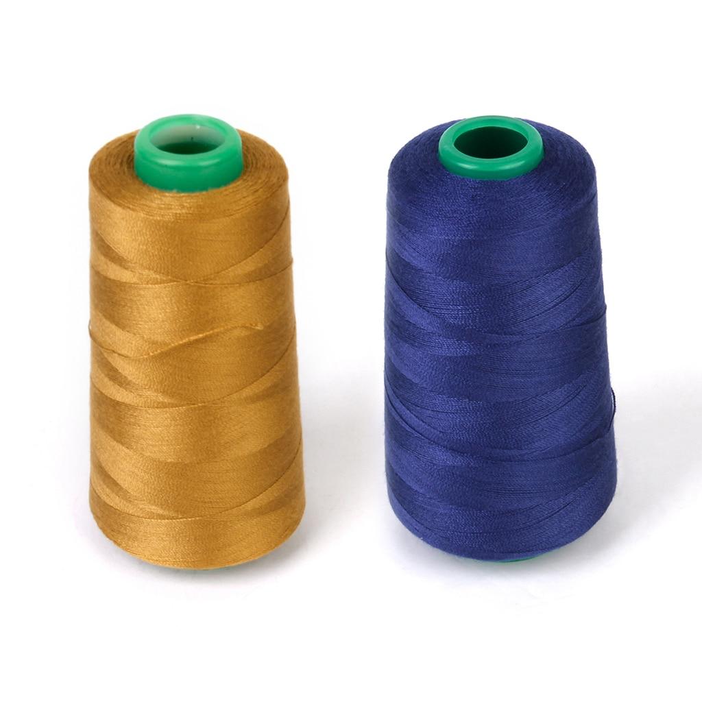 ¡Novedad! Carrete de 3000 yardas de hilo de coser de poliéster para Jeans DIY para máquina de coser en casa 20S/2 camiseta azul marino vestido cosido a mano