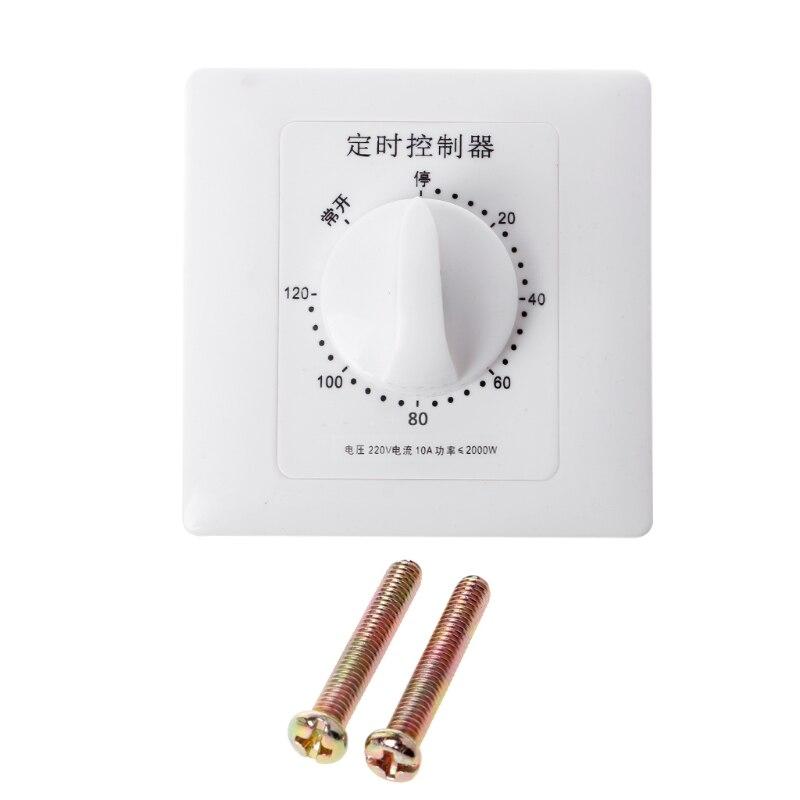 Interruptor de temporizador CA 220V, bomba de Control mecánica, Control de cuenta regresiva, Interruptor 30/60/120 minutos, soporte de envío directo