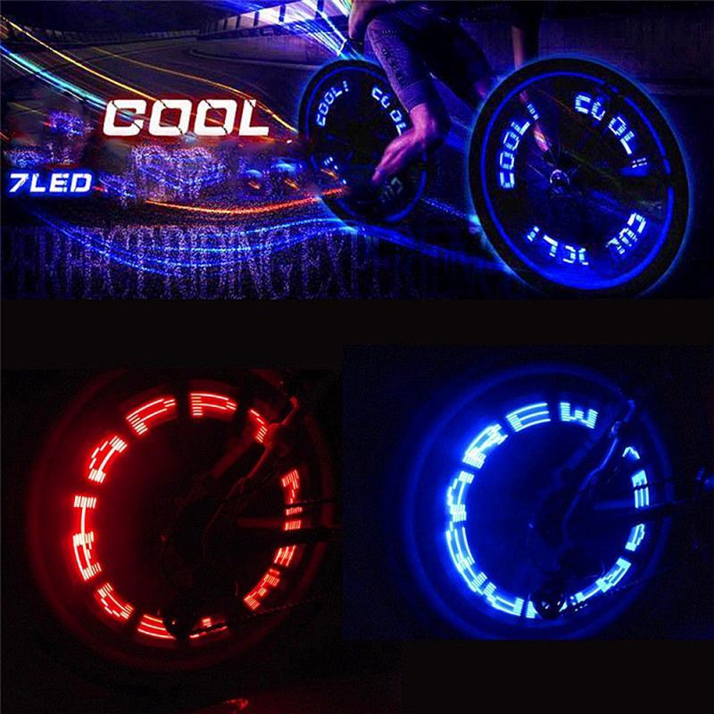 Bicicleta LED luz para bicicleta de montaña de luz de Gas para neumáticos boquilla del núcleo de la válvula Glow Stick ciclismo lámpara tapones de neumáticos de rueda de radios de luz de Flash