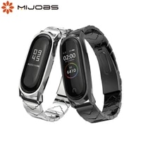 bracelet for xiaomi mi band 5 6 strap nfc global mi band 4 correa metal stainless steel%c2%a0mi band 3 4 strap in smart wristband