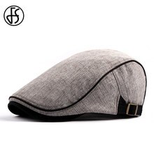 FS 2019 Cotton Berets Caps For Men Autumn Flat Ivy Hats Women Vintage Newsboy Caps Adjustable Gatsby Sun Hat Boina Men