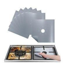 Couverture réutilisable de revêtement de protecteur de brûleur supérieur de cuisinière à gaz pour nettoyer la couverture de micro-ondes de revêtement de protecteur de table de cuisson à gaz de téflon 4 pièces/1PC
