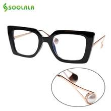 SOOLALA Anti Blue Light Cat Eye Sunglasses Reading Glasses Computer Pearl Arms Reading Glasses +1.0