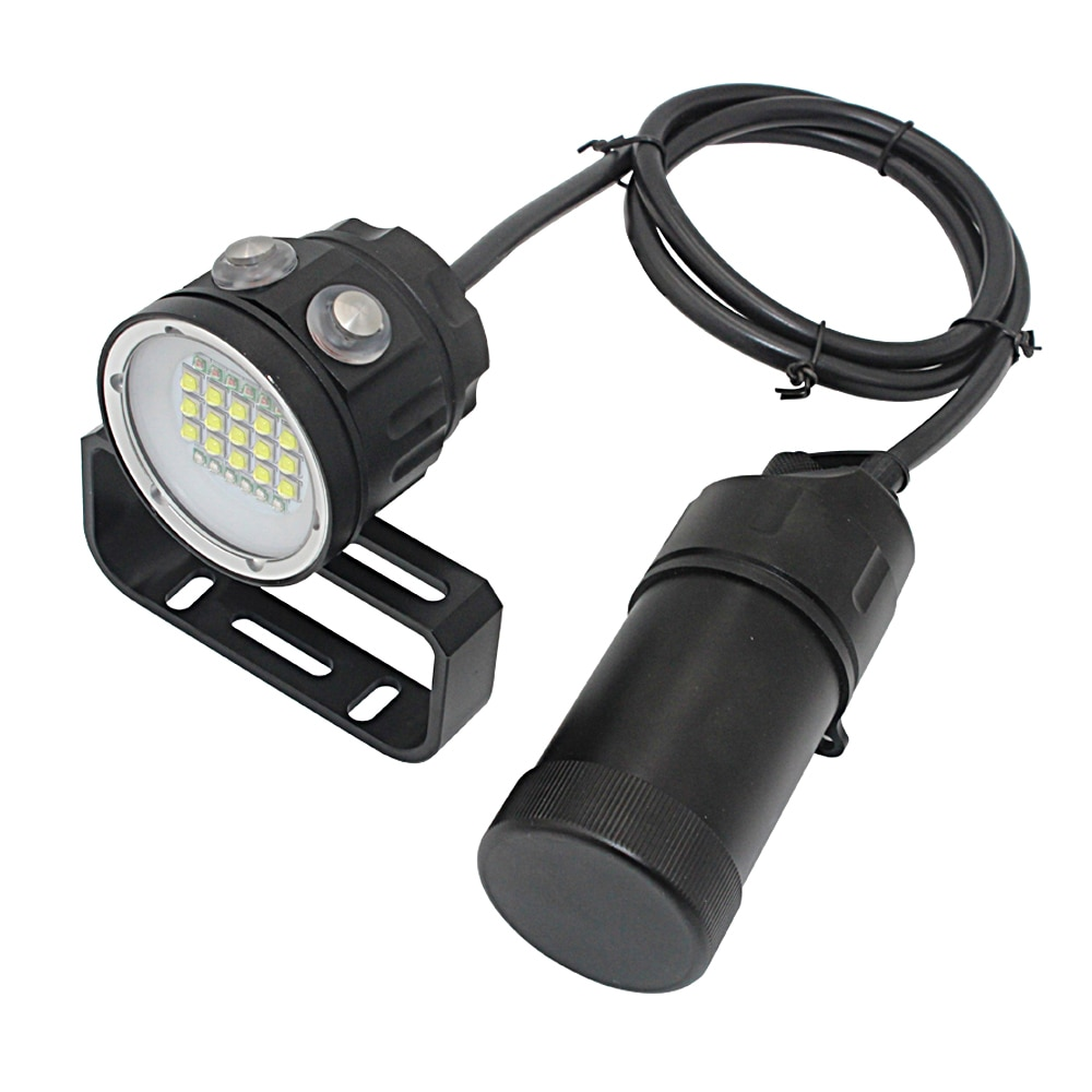 27 LED Canister Diving Video Light Waterproof 100m Underwater XM L2 Scuba Dive Torch Rechargeable 18650 Led Split Flashlight enlarge