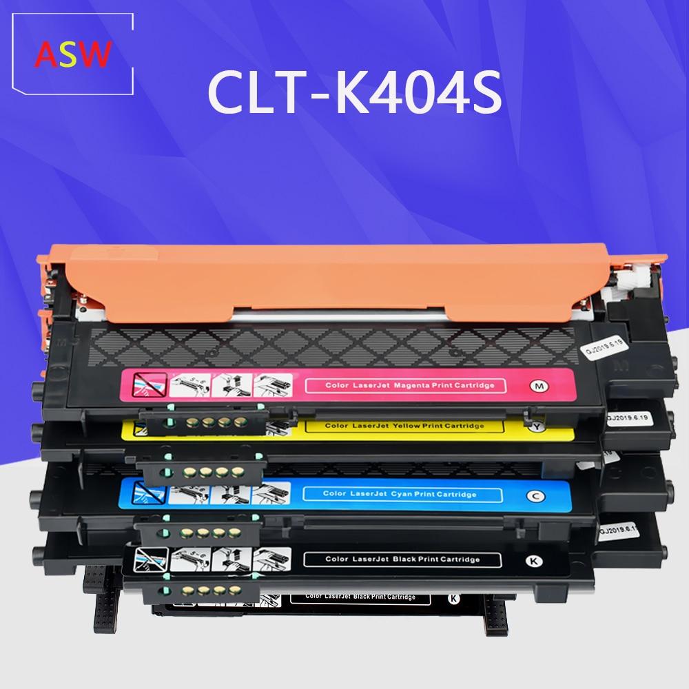 ASW CLT-K404S M404S C404S CLT-Y404S 404S الحبر خرطوشة طابعة متوافقة لسامسونج C430W C433W C480 C480FN C480FW C480W