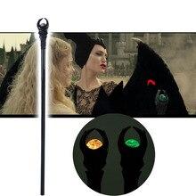 Neue Anime Maleficent Cosplay Zubehör Requisiten Hexe Zauberstab PVC Scepter LED Cane Walking Stick Party Halloween Karneval Prop