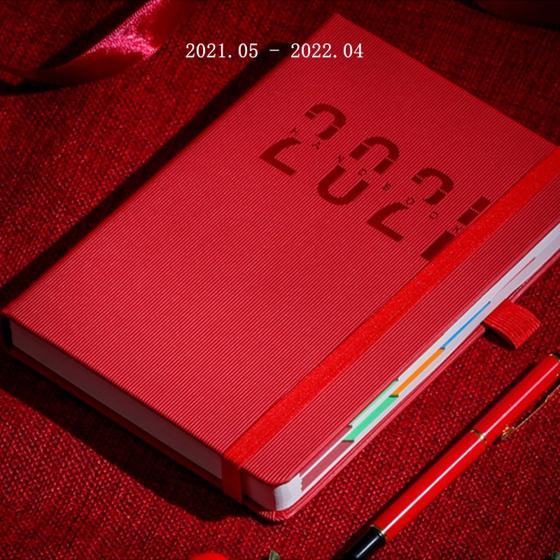 A5 2021 2022 Planner Agenda Annual Calendar Notebook Portable Weekly Note Manual DIY Diary Monthly Organizer Schedule Stationary