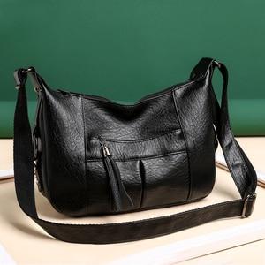 Fashion Women Tassel Shoulder Crossbody Bags PU Leather Pure Color Messenger Bag Casual All-matchLadies Handbags Purse Hot Sale