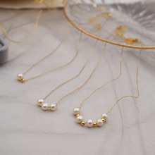 Classic Fashion Natural Pearl Pendant Jewelry Necklace for Woman Korean New Gold Chain Choker Clavic