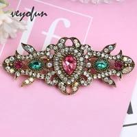 veyofun vintage crystal zinc alloy brooch rhinestone jewelry pin for women accessories new