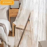 nordic curtains for living dining room bedroom pastoral window tulle french window kitchen curtains door curtain tulle
