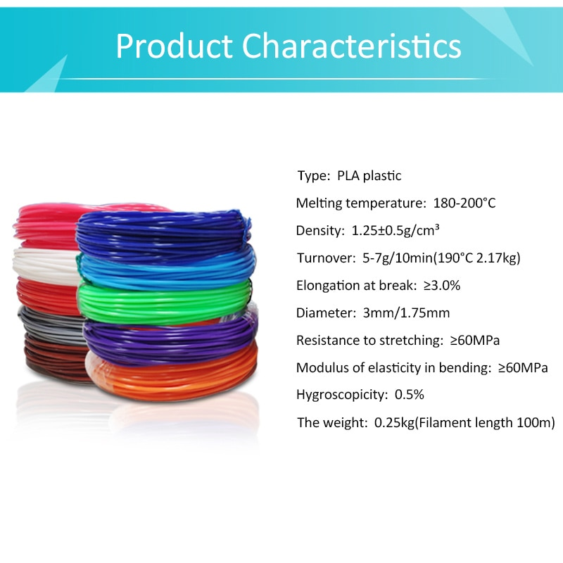 50m sublimation pla filament abs 3d printer glow in the dark plastic 1.75mm impresora resina for pens abs a filamento cheap enlarge