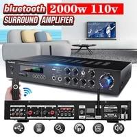 220V 2000W HIFI AV amplificateur de puissance Audio caissons de basses HiFi stereo Bluetooth Surround son numerique puissant Home karaoke cinema