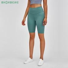 SHINBENE MUST-HAVES Plain High Waist Athletic Sport Fitness Long Shorts Women Butter Soft Naked-feel Yoga Workout Biker Shorts