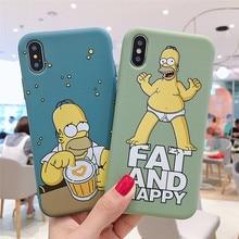 GYKZ dessin animé homère J. Simpsons Coque de téléphone pour iPhone XS MAX XR X 11 Pro 7 8 6 6s Plus Silicone souple mince Coque arrière Fundas