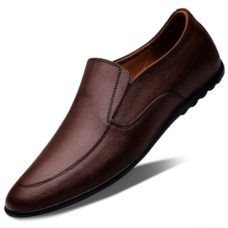 بلون حذاء رجالي كاجوال فاخر انقسام الجلود الكلاسيكية براون أحذية رجالي في الهواء الطلق القيادة رجال الأعمال الجلود أحذية الرجال