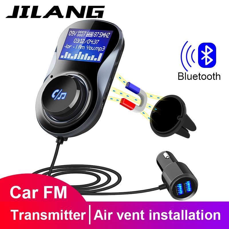 Jilang bluetooth mãos-livres fm modulador estéreo carro mp3 player adaptador de áudio transmissor fm suporte tf para iphone xs 8 7 & android