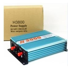 H3800 Трансформатор 24 В до 13,8 В 65A/100A регулятор питания для мобильного двухстороннего радио автомобиля 18 в-40 в 13,8 В 65A/100A