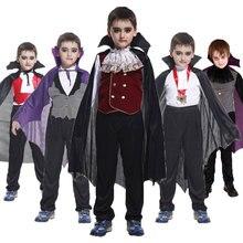 Umorden-Disfraz de Príncipe y vampiro para niños, traje gótico de personaje Dracula para fiesta de carnaval, Halloween, Fantasía