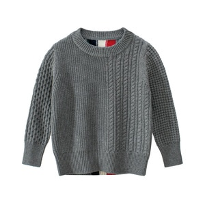 2020 new autumn and winter children's round neck sweater boys cotton knitwear toddler boy clothes  boys sweaters
