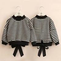 2021 causal striped sweatshirts baby girls hoodies toddler kids sweatshirts childrens o neck long sleeves hoodies clothes d50