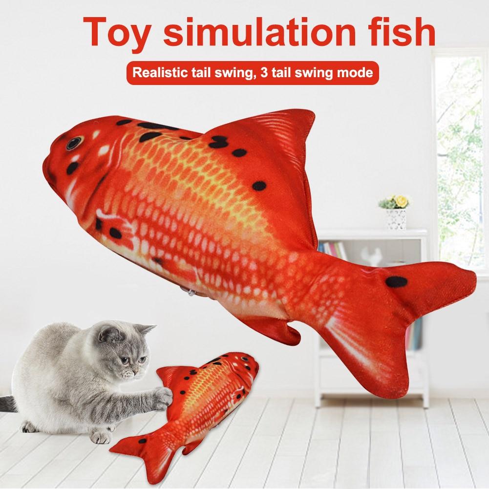 Juguete interactivo desmontable para gatos, juguete para embolsar, regalo para niños, juguete eléctrico con cola oscilante para gatos, lavable a batería móvil