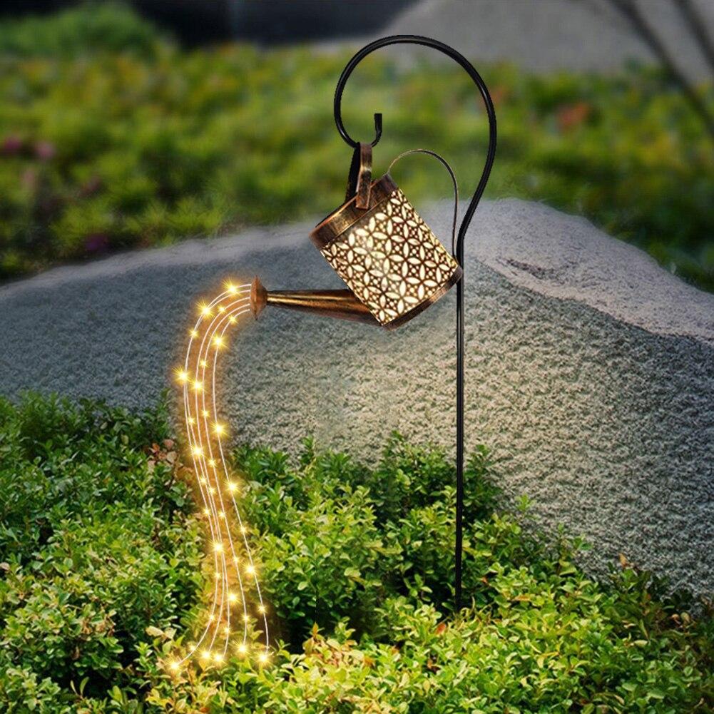 مسقاة حديقة الشمسية المشهد مسار LED سلسلة أضواء ساحة حصة مع زارع لساحة الحديقة الفن زينة المنزل في الهواء الطلق