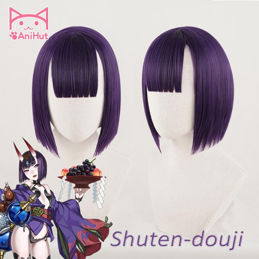 【AniHut】Shuten Douji косплей парик Fate Grand Order FGO парик синтетические фиолетовые волосы Shuten Douji