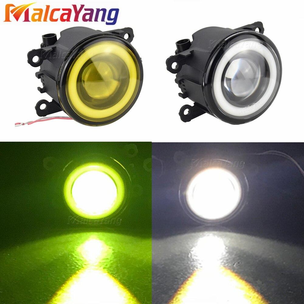 2 unids/par de luces antiniebla de ojo de Ángel para coche, luces LED para Citroen C4 Cactus 2014 2015 2016 para Citroen DS4 2011-2015