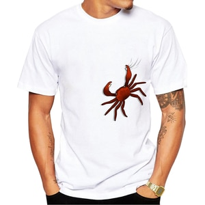 2020 Newest Fashion Printed Design Funny crab T Shirt Fashion Men's Hipster Fitness T-shirts Summer Brand Clothing Tops Tees