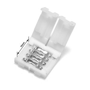 50pcs 4 Pin Connectors 2pin 8mm 10mm Strip Connector No Soldering For 3528 5050 5630 5730 RGB LED Strip Lights