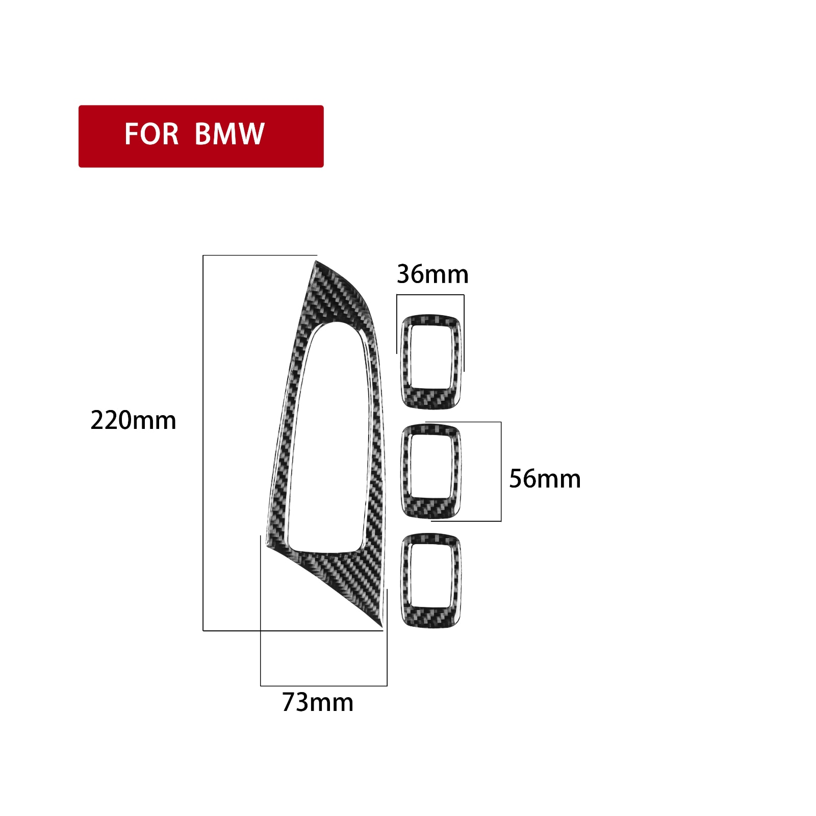 It Is Suitable For BMW Low Configuration Of Window Key Panel BMW X3(2011-2017) X4(2014-2017) Left Hand Driving enlarge