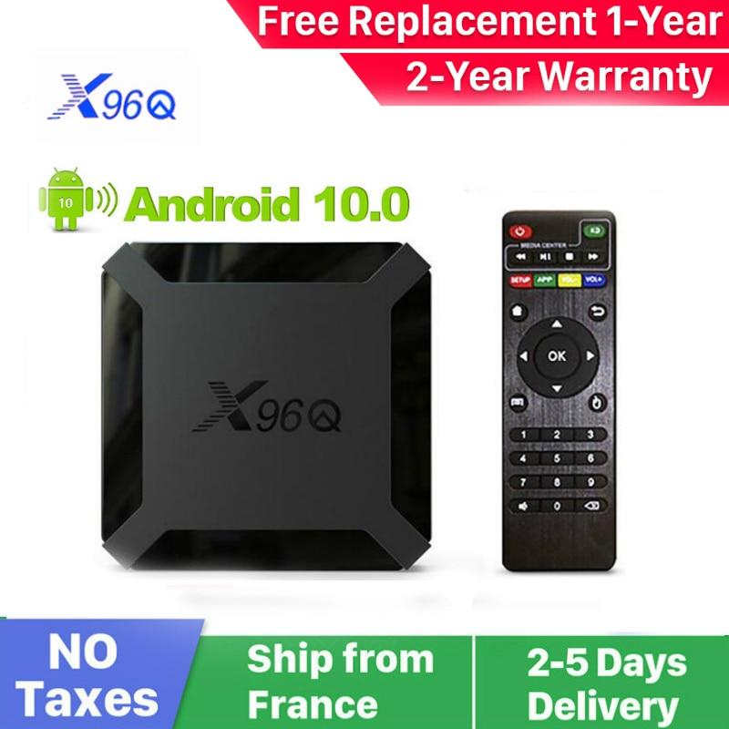 جديد X96Q أندرويد 10.0 الذكية علبة تلفزيون بروتوكول الإنترنت x96Q 1G 8G 2G 16G Allwinner H313 الذكية ip tv فك التشفير صندوق السفينة من فرنسا
