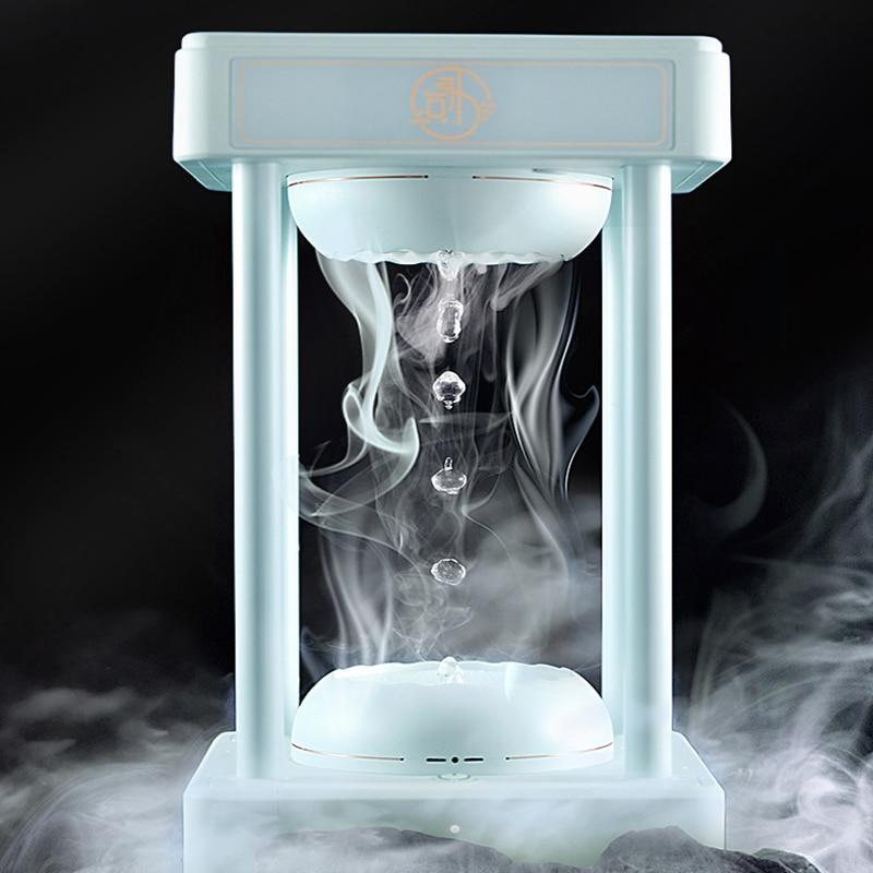 Magic Rainbow Cloud Anti Gravity Levitating Water Drops Time Hourglass Fountain Hydra Lamp