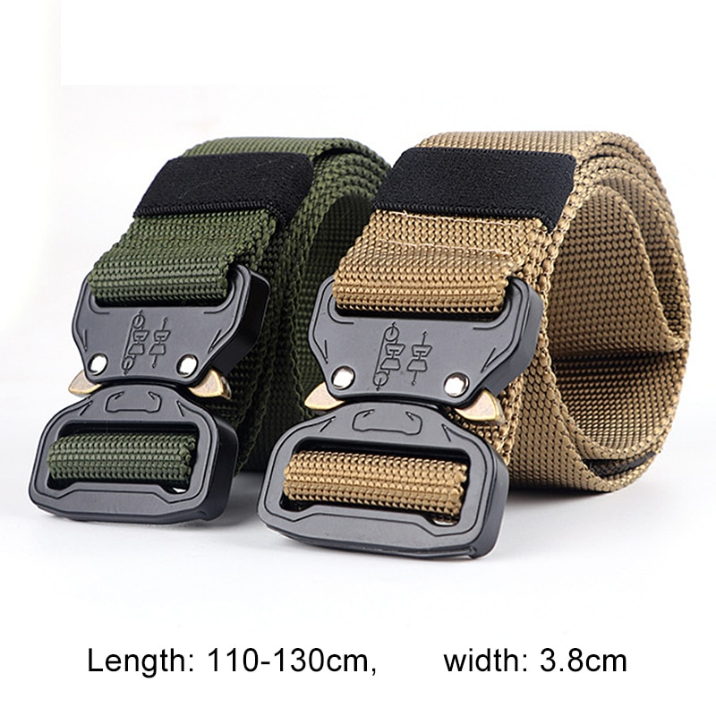 excellent elite spanker outdoor tactical molle nylon patrol waist belts army military accessories jungle hunting combat men belt Laamei 2020 Hot Nylon Belt Men Army Tactical Belt Molle Military Combat Belts Knock Off  Survival Waist Tactical Gear Dropship
