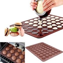 Silicone macaron macaroon forno de pastelaria cozimento molde folha esteira antiaderente diy ferramentas de cozinha 30/48 buracos