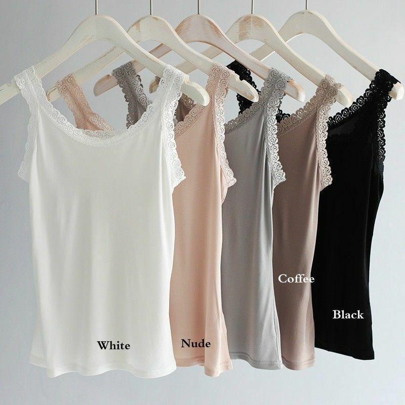 Camisola tejida de seda pura para mujer, camiseta de flores sin mangas, camiseta sin mangas con tirantes de encaje, camiseta sin mangas