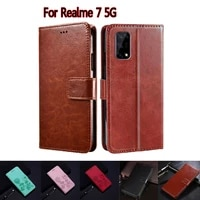 flip cover for oppo realme 7 5g case rmx2111 phone protective shell funda case for realme7 5g wallet leather hoesje book capa