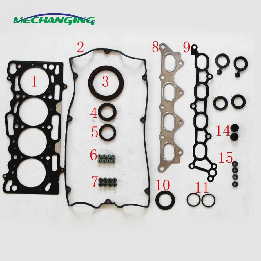 4G15M 4G15T para Mitsubishi COLT CZC TURBO 16V, piezas de motor, juego completo de piezas de repuesto automotrices, junta de motor 1000A272