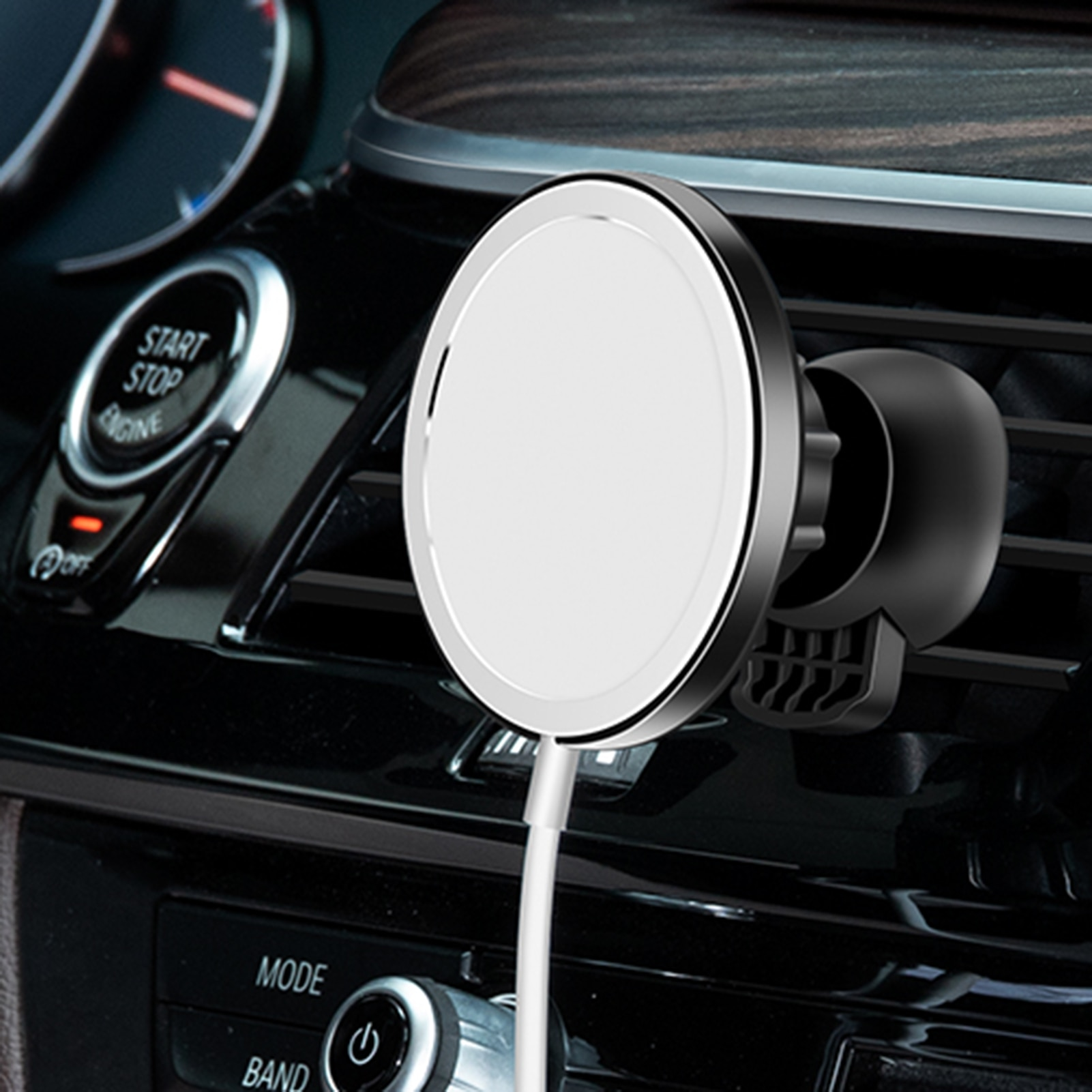 Magnetic Car Phone Holder Stand For MagSafe Charger Metal Air Vent Holder In Car GPS Mount Holder Mo