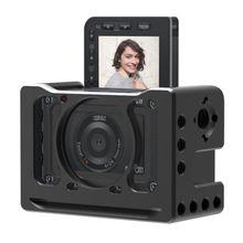 Aluminium legierung Kamera Käfig Mikrofon VLOG Halter Durable Schwarz Kamera Käfig Geeignet Für Sony RX0 II