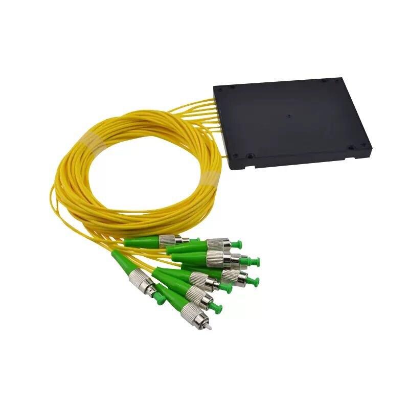 10 قطعة/الوحدة FC/APC 1X8 PLC المفردة الألياف البصرية الفاصل FTTH PLC ABS نوع FBT PLC 1*8 الألياف البصرية الخائن