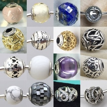 2019 100% 925 sterling silver E series Active Peace Passion Creativity Trust Love Hope Faith Spirituality Bracelet Beads