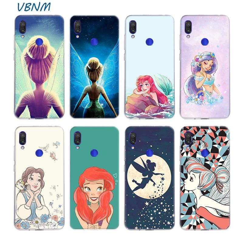 Campanilla Ariel Jasmine funda de silicona para Xiaomi Redmi Nota 9 8 7 6 5 4 Plus 4X Pro 8A 7A S2 6A 5A K30 K20 funda trasera de TPU